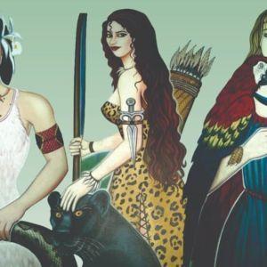 ilustração princesas turcas - lendas do Maranhão